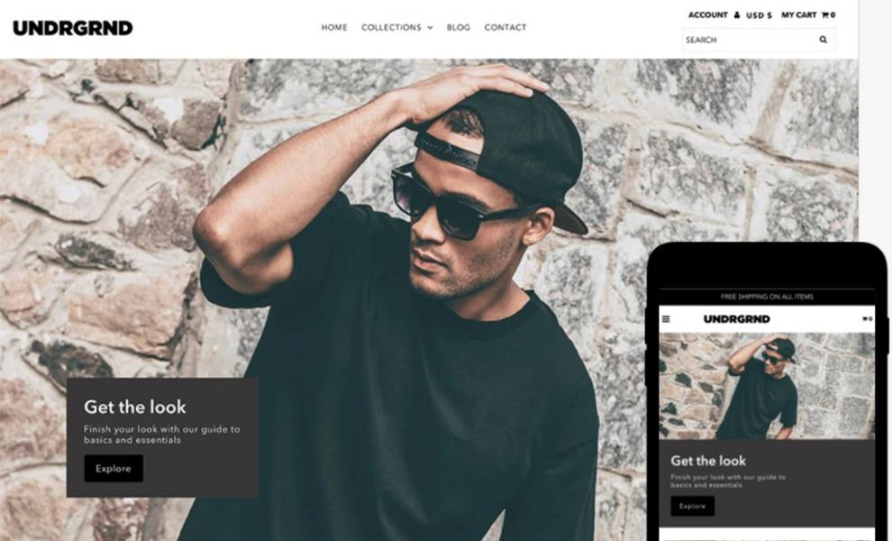 an example of shopify theme - guaranteed software