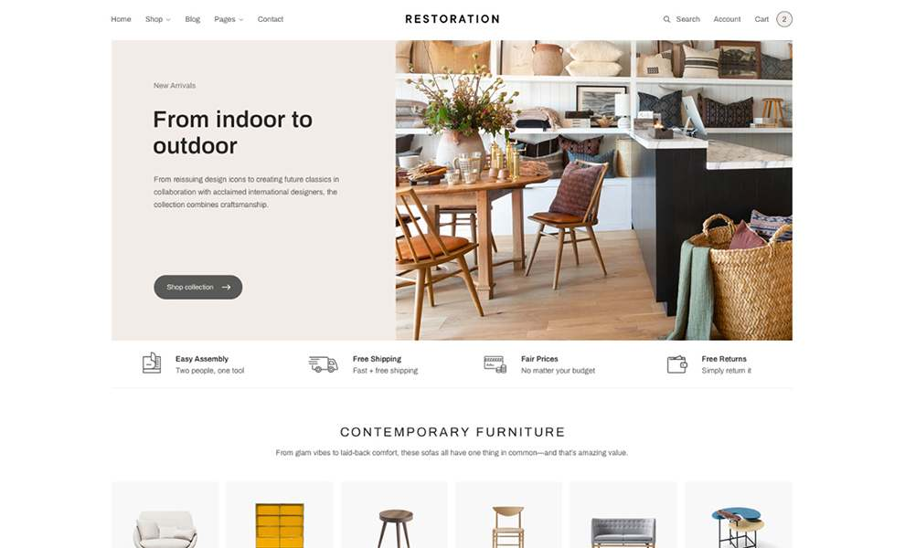 an example of woocommerce theme - guaranteed software